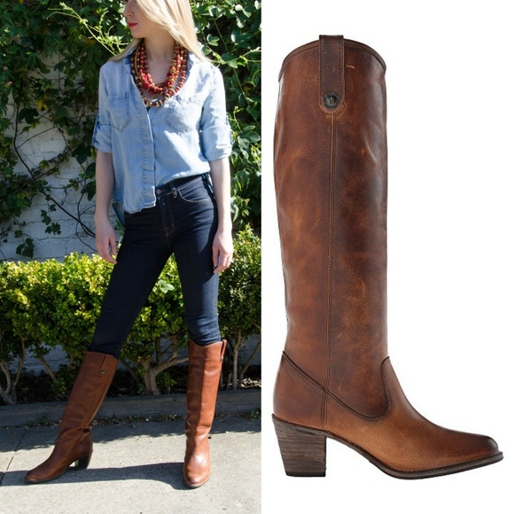 c4d85f65c658 Frye Shoes - New FRYE Jackie Button Tall Distressed LeatherBoot